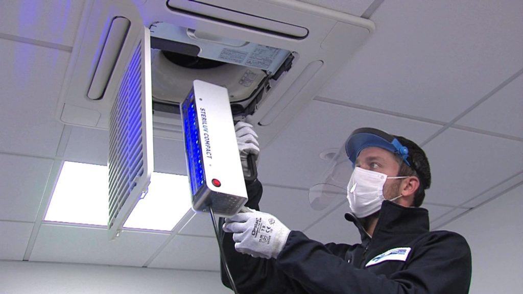 SterilUV Compact - UV disinfection of air conditioning.